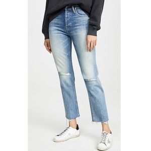 MOTHER Tomcat Ankle Fray destroyed Jeans Sz 27